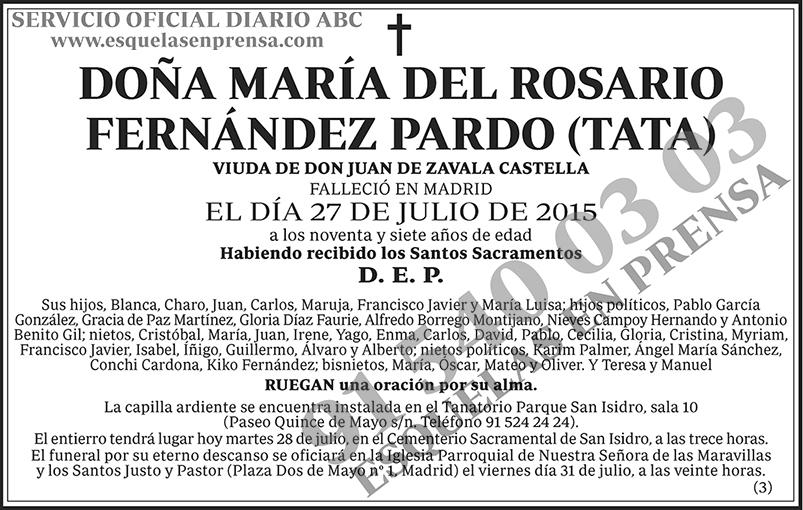 María del Rosario Fernández Pardo (Tata)